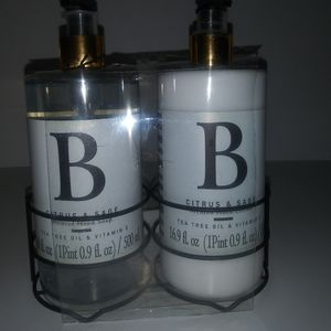 New vitamin Scented hand soap and lotion.